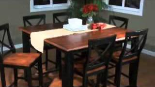 Rosetta Counter Height Table with Camden Chairs