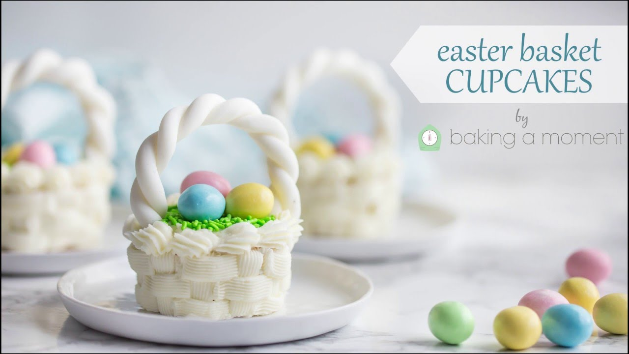Easter basket cupcakes youtube negle Images