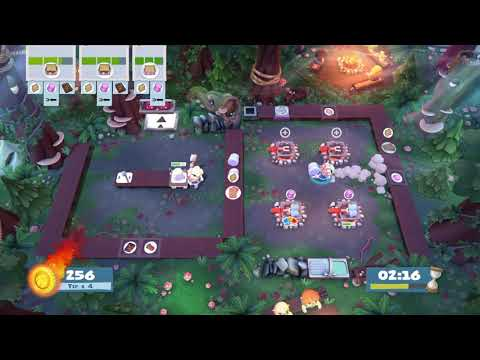 Overcooked 2 Campfire Cook Off 1-1 solo 4 stars |
