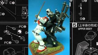 Gunpla Model Showcase : Kampfer vs GM The Uneven Battlefield