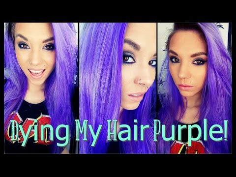 dying my hair purple la riche directions in violet youtube