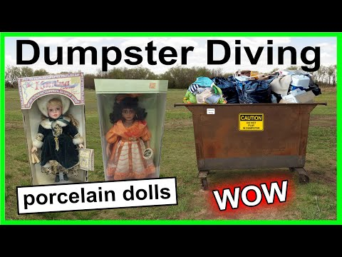 WOW Found Porcelain Dolls Dumpster Diving #314