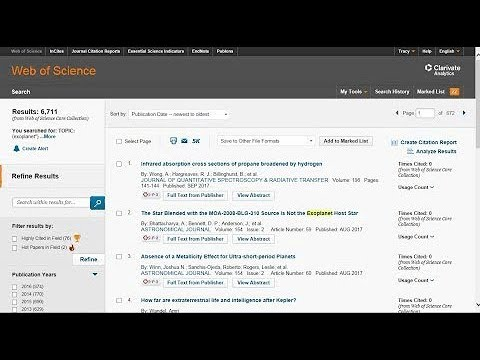 Cursos de formación en línea de la Web of Science