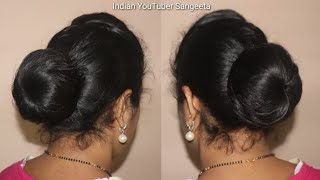 Hot to perfect low bun || low bun hairstyles for thin hair || juda hairstyle || hairstyle