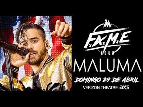 Maluma - F.A.M.E. World Tour - Dallas. Verizon Theatre (Full Show)