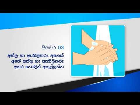 Health Education Bureau,Srilanka, Hand Washing 50sec