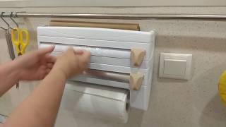 обзор Диспенсер полка для нарезки и хранения фольги пленки бумажных полотенец папируса алиэкспресс