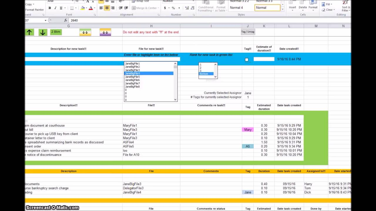 project management tracker