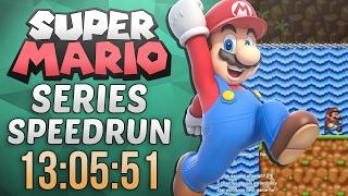 Super Mario Series Speedrun in 13:05:51 (Super Mario Bros. 2)