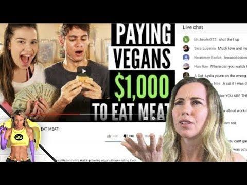 PAYING VEGANS $1000 TO EAT MEAT! Reaction