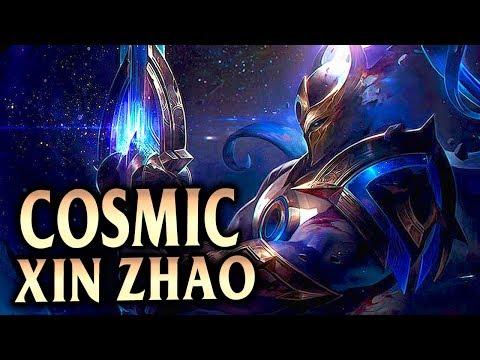 New Cosmic Defender Xin Zhao Skin! Flawless Jungle Xin Zhao? - League of Legends S8