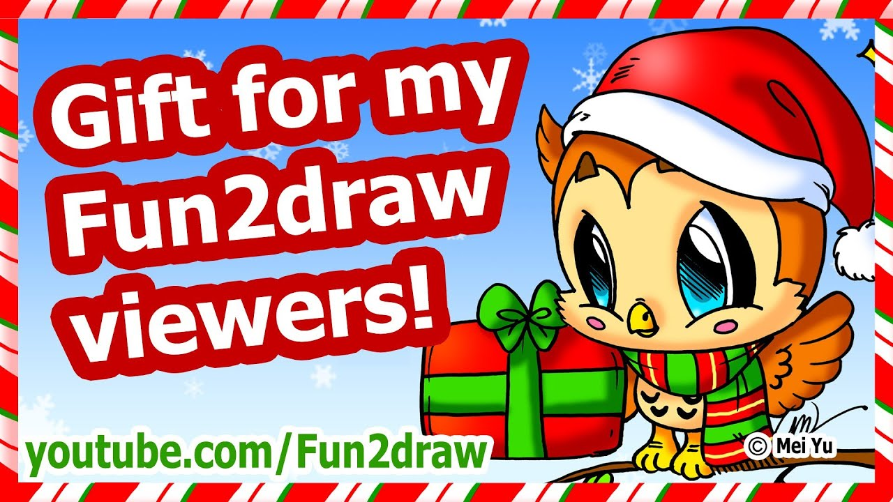 Christmas Gift For My Fun2draw Viewers How To Draw A