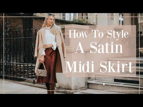 5 WAYS TO STYLE A SATIN MIDI SKIRT // Fashion Mumblr