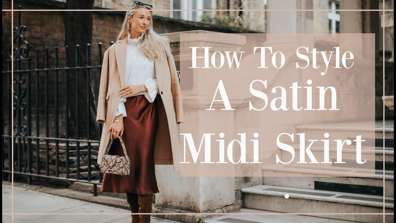 f0974d66e4ef 5 WAYS TO STYLE A SATIN MIDI SKIRT // Fashion Mumblr | VideoDesc