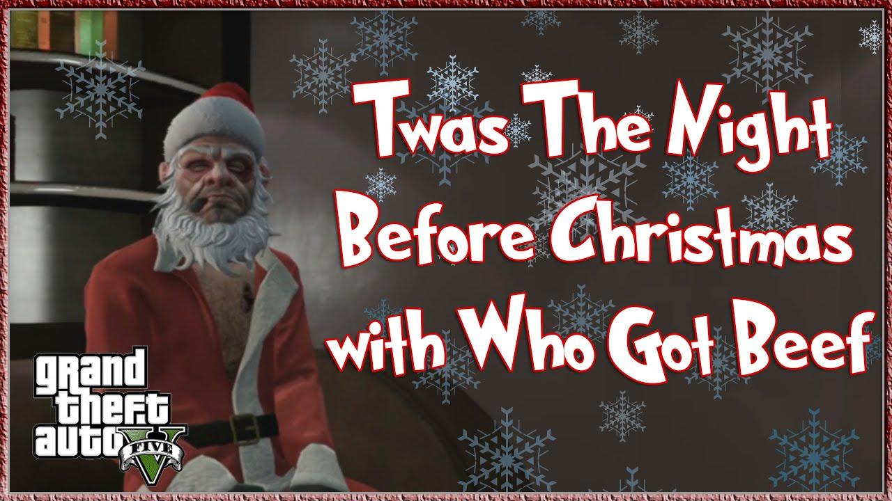 gta 5 online twas the night before christmas funny christmas gta 5 online xbox one rockstar editor - Twas The Night Before Christmas Funny