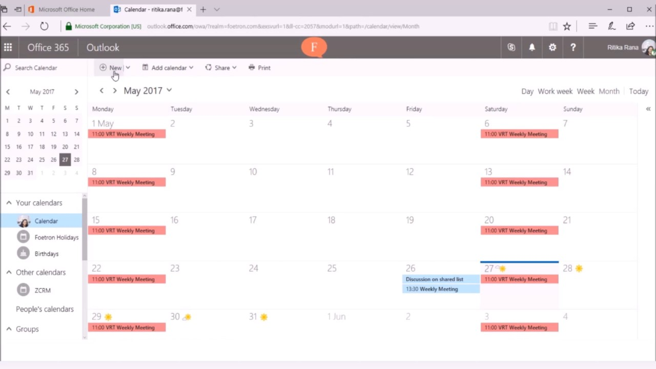 How to send online meeting invite with Outlook Web Access(OWA)?