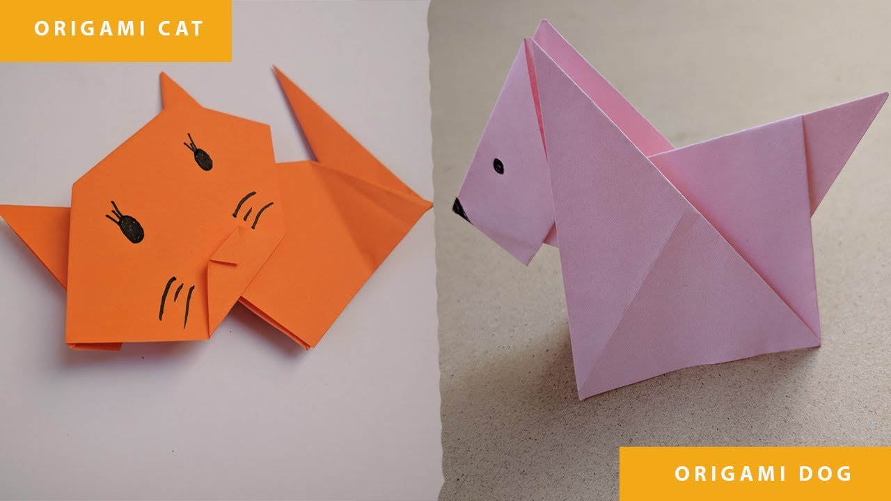 Cute Origami Cat - Red Ted Art - Make crafting with kids easy & fun | 720x1280