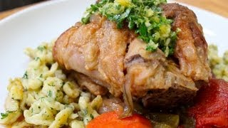 Pork Osso Bucco with Herb Spaetzle