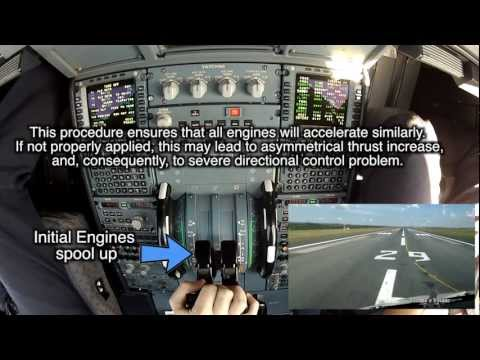 DETAILED THRUST LEVERS & A/THR OPERATION ON FLEX TO & LG
