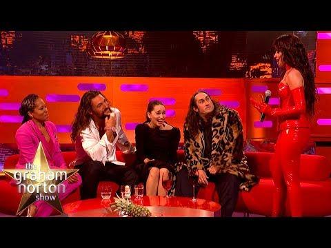 Camila Cabello Fangirls HARD Over Emilia Clarke & Jason Momoa   The Graham Norton Show