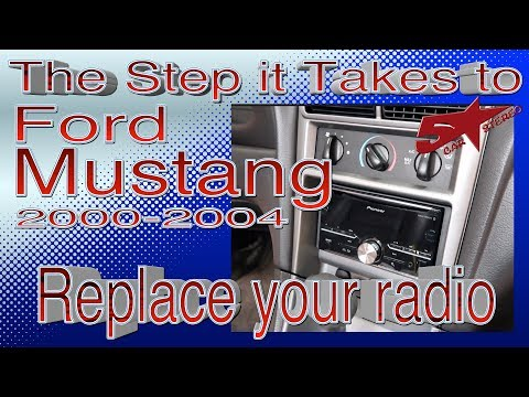 The steps it take to replace your radio ,Ford Mustang 2000 2004
