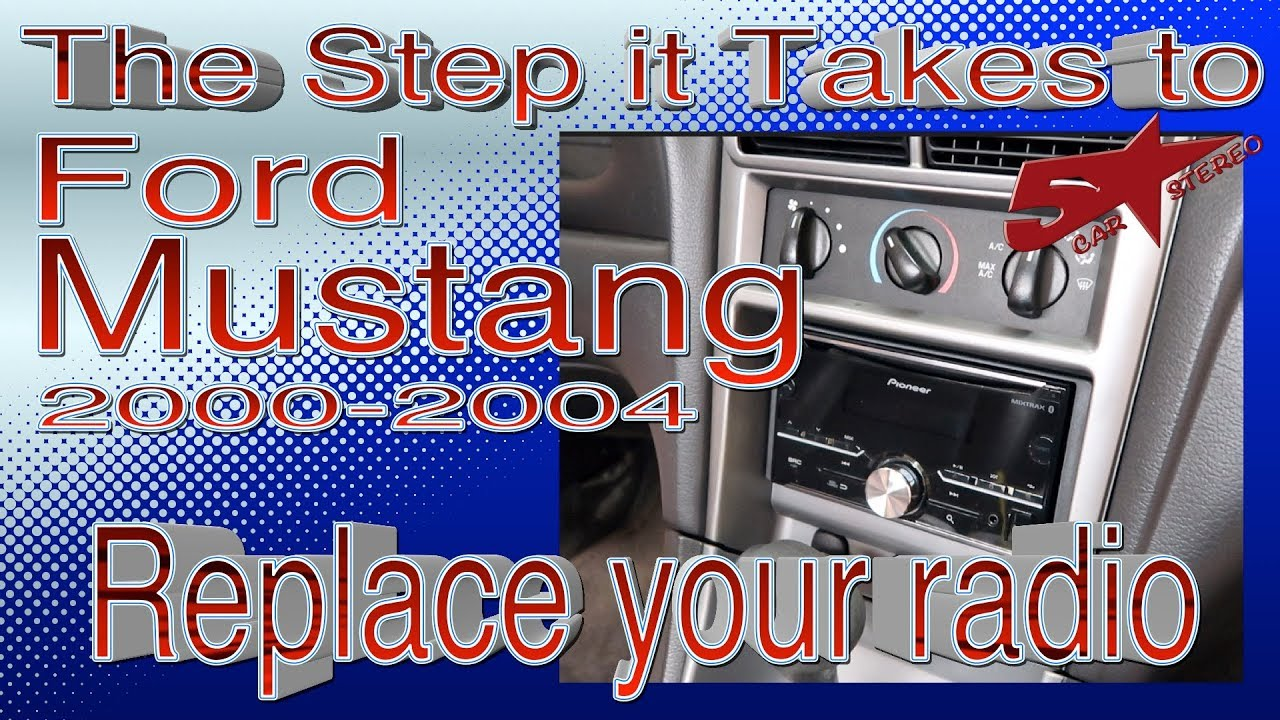 [SCHEMATICS_4US]  The steps it take to replace your radio ,Ford Mustang 2000 2004 - YouTube | 2000 Ford Mustang Audio Wiring |  | YouTube