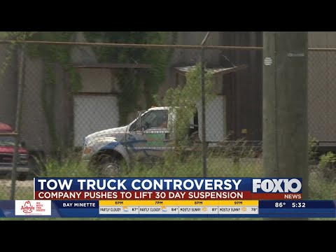 Mobile tow company price-gouging investigation