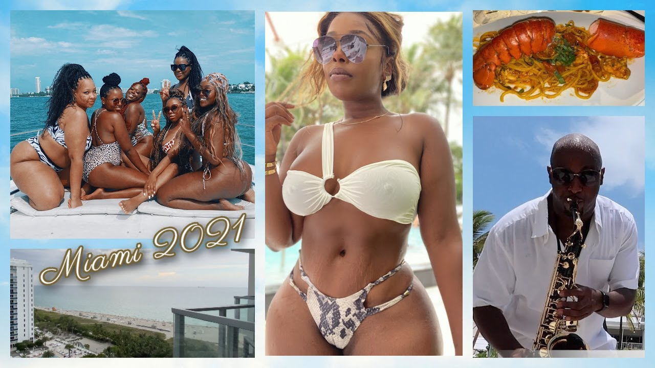 "Miami Girls Trip 2021! ""We Outside""Travel Vlog! Yacht Life, Nikki Beach Brunch, Versace, & MORE!"