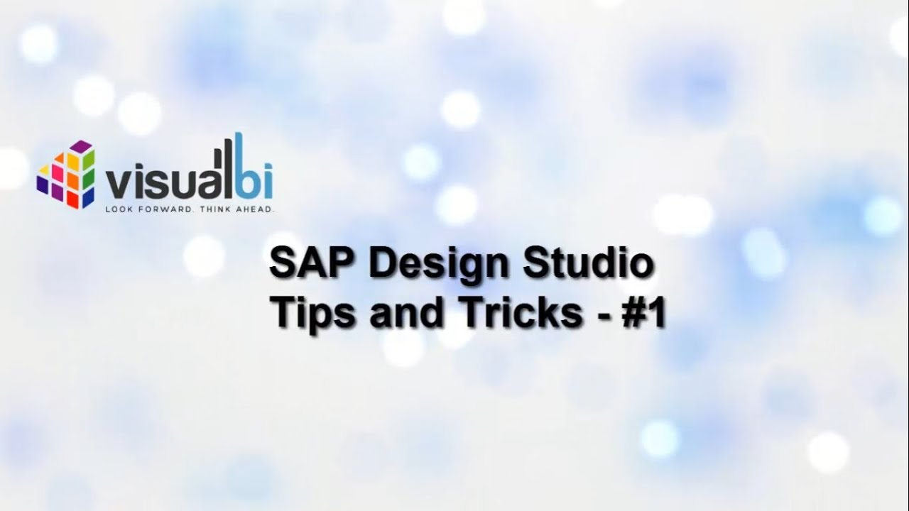 Sap Design Studio Tips And Tricks 1 Swapping Charts Into