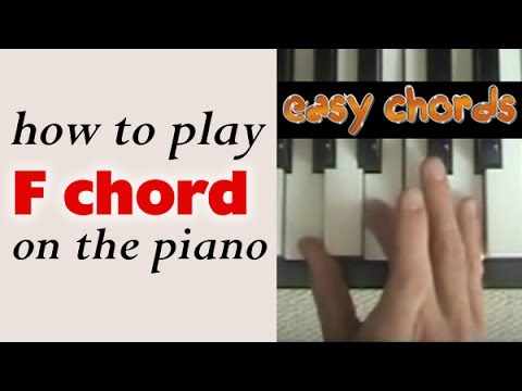 F Chord Piano How To Play F Major Chord On The Piano Or Keyboard