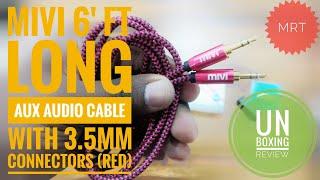 Mivi 6Ft Long Audio Aux Cable