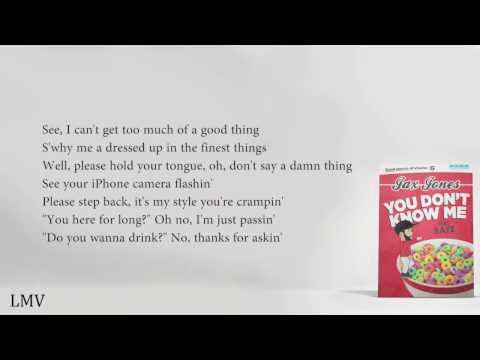 Jax Jones - You Don't Know Me ft. RAYE (Lyrics)