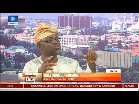There Is Nothing On The Table Against The Minister Of State - SERAP Pt.1 |Sunrise Daily|