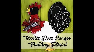 Rooster Door Hanger Painting Tutorial