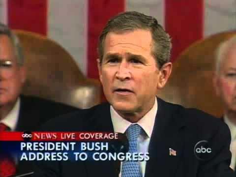 Sept 20 2001 Bush Declares War On Terror