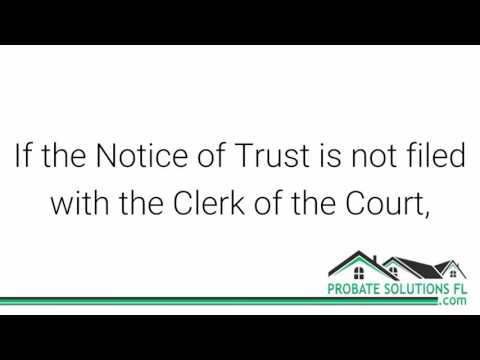 Florida Probate Process | Revocable Living Trust
