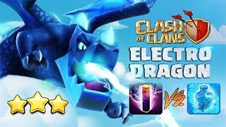 Best Electro Dragon Attack Strategy Bat Spell | New TH11 3 Star War Attack Bat EdLaloon Freeze COC