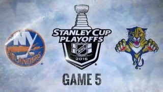 New York Islanders vs Florida Panthers. Game #5. PlayOffs NHL 2016