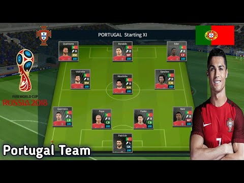 Create Portugal World Cup 2018 Team ● Kit Logo & Players ● Dream League  Soccer 2018
