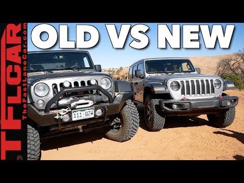 Old vs New: 2018 Jeep Wrangler JL vs Wrangler JK vs Moab's Hummer Hill!