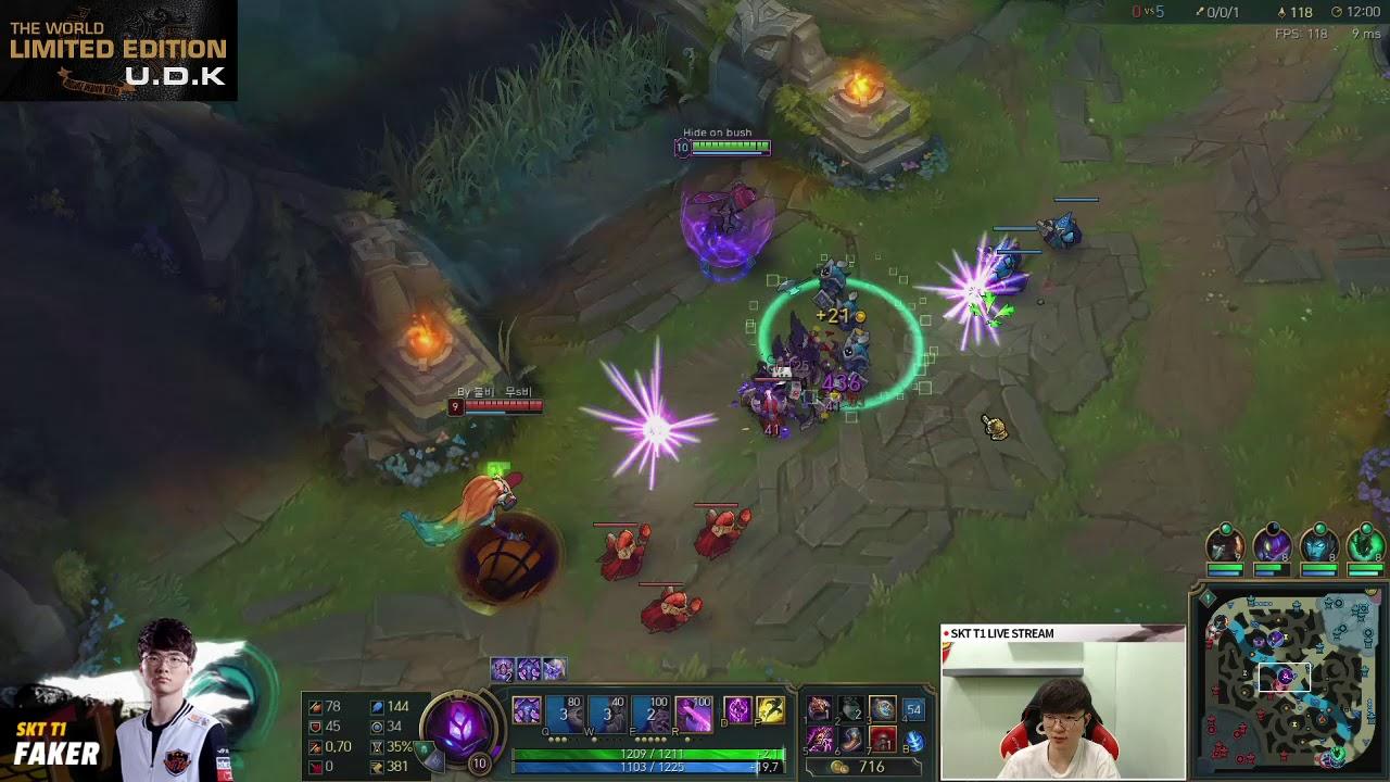 Faker Malzahar S8 | Malzahar vs Zoe Season 8 | Full Game Rank korean
