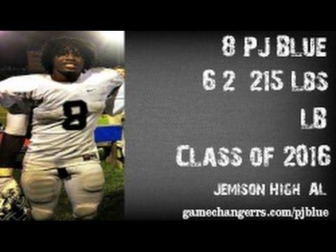 #8 P.J. Blue / LB / Jemison High (AL) Class of 2016