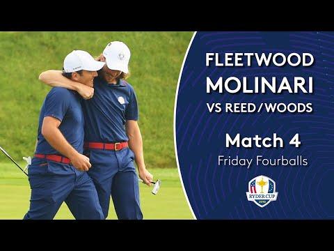 Molinari/Fleetwood vs Reed/Woods | Friday Fourballs | 2018 Ryder Cup Mp3