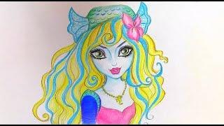 Как нарисовать МОНСТЕР ХАЙ Лагуну Блю. How to draw Monster High characters | Art School
