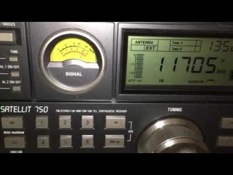 NHK World Radio Japan, 11705 kHz, 18 September 2016, 13:51 UTC
