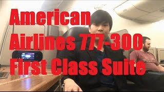 american airlines aa first class flagship suite on boeing 777 300er in 7 minutes