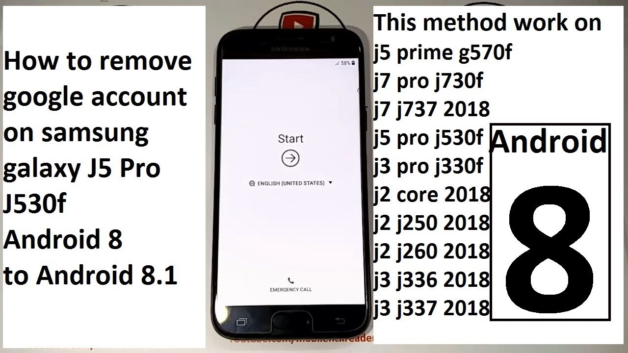 How To Remove Google Account On Samsung Galaxy J5 Pro J530f