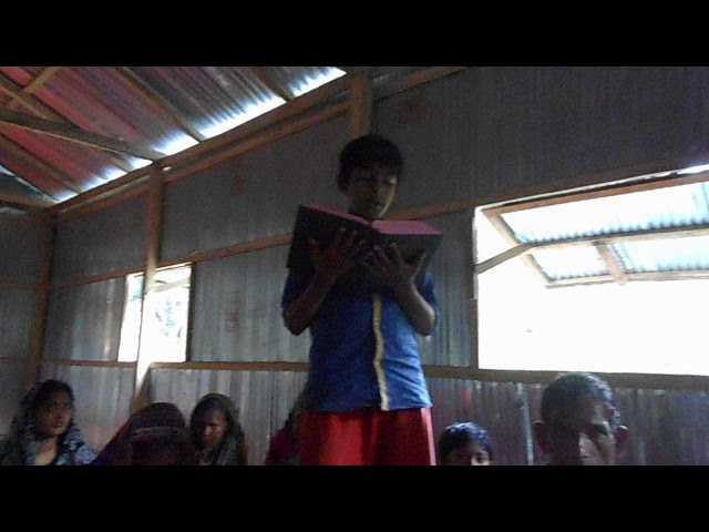 Child Reading from the Bible - GMFC/WFF Bangladesh