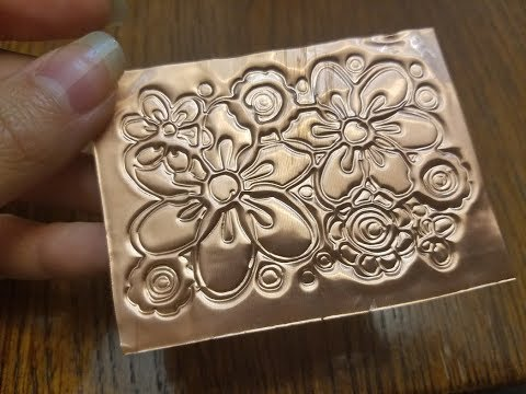 How to emboss on metal sheet with Cricut | Embossing