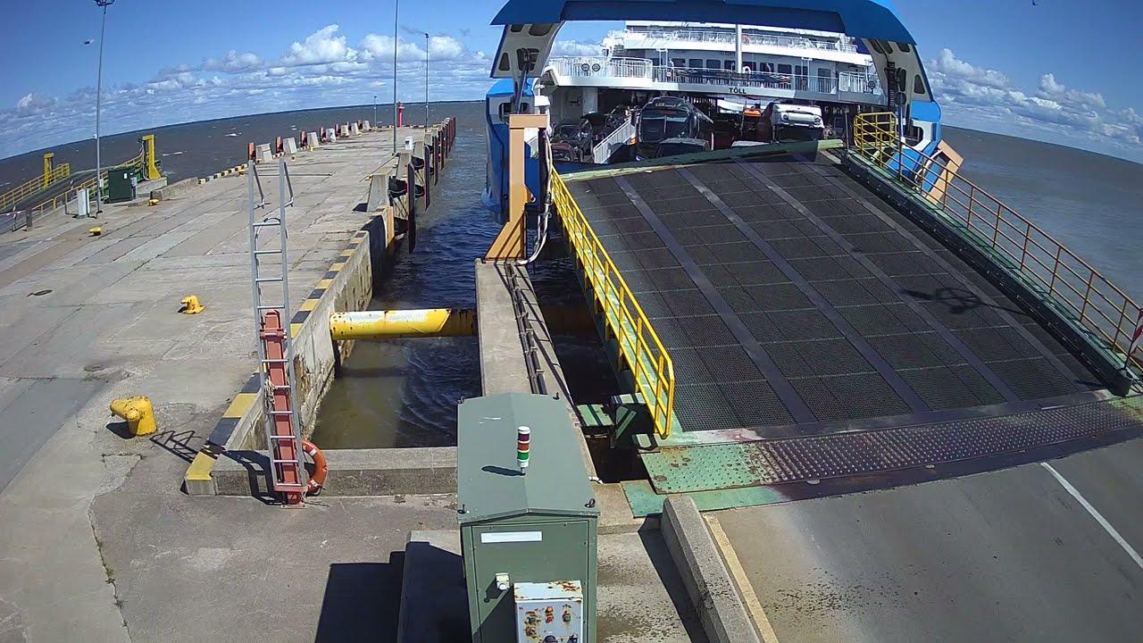Ferry crashes into harbor